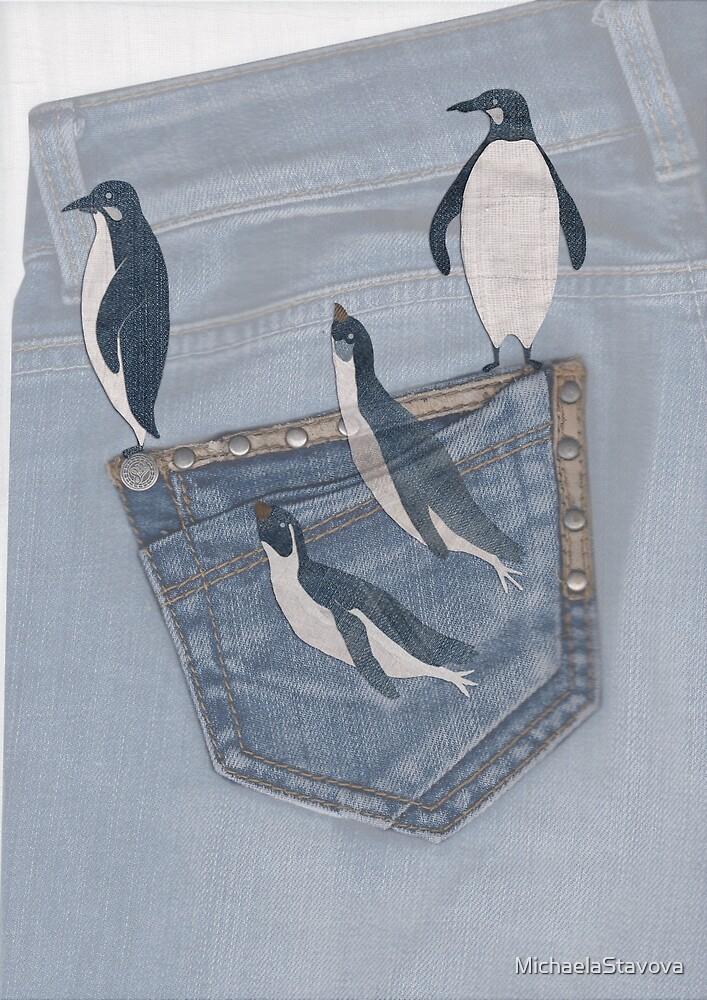 penguins winter by MichaelaStavova