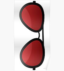 Red shades Poster