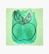 Green Watercolor Apple  Scarf