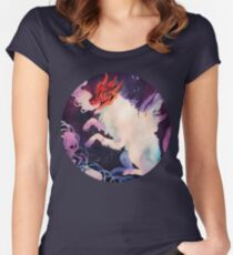Halloween dog Women's Fitted Scoop T-Shirt