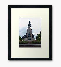 Monument to the fallen soldiers Framed Print