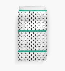 Simple Forest pattern (teal) Duvet Cover
