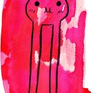 HI!! Tall Little Monster Watercolor by SaradaBoru