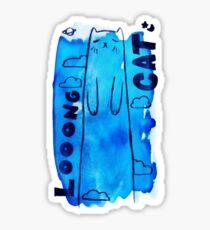 Looong Cat Watercolor Sticker