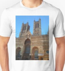 Lincoln cathedral in the Twilight Unisex T-Shirt