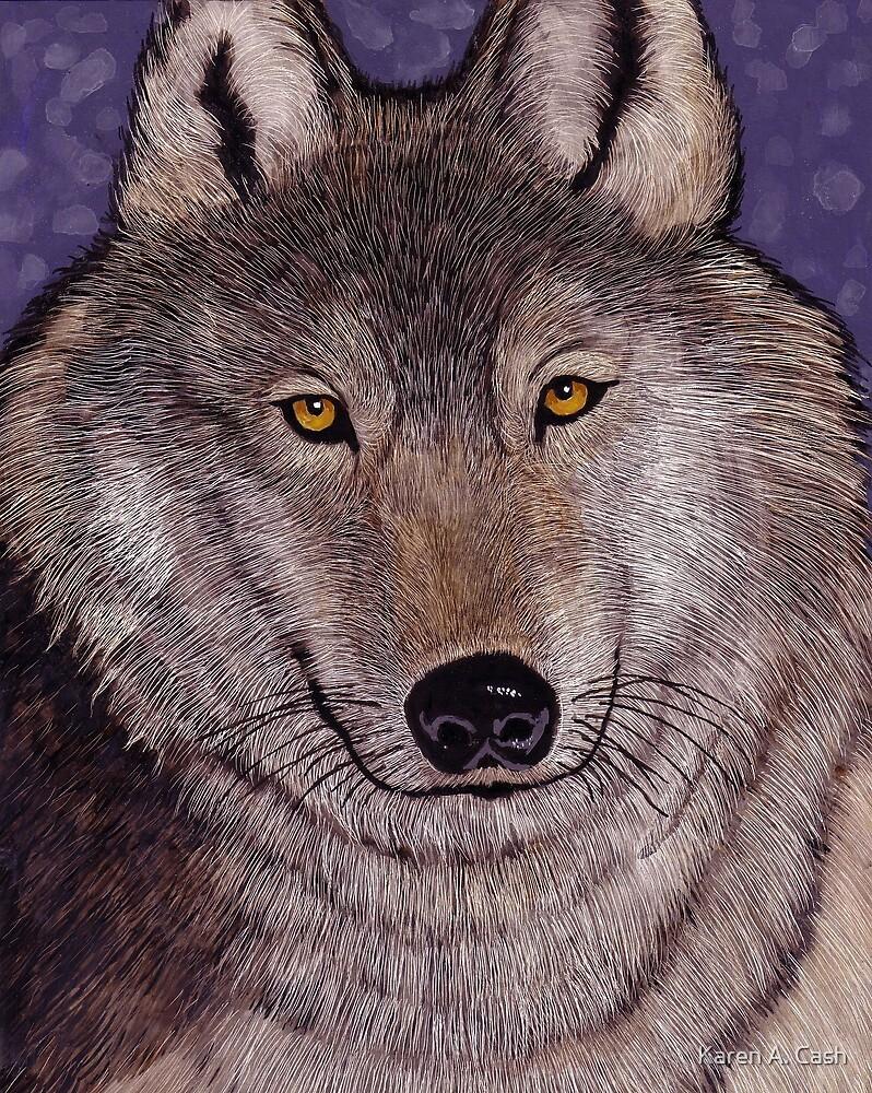 'Montana Wolf' by Karen A. Cash