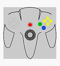 N64 Controller Photographic Print