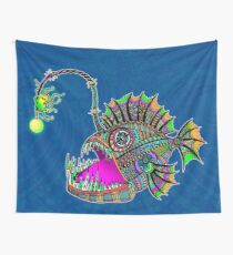 Electric Angler Fish Wall Tapestry