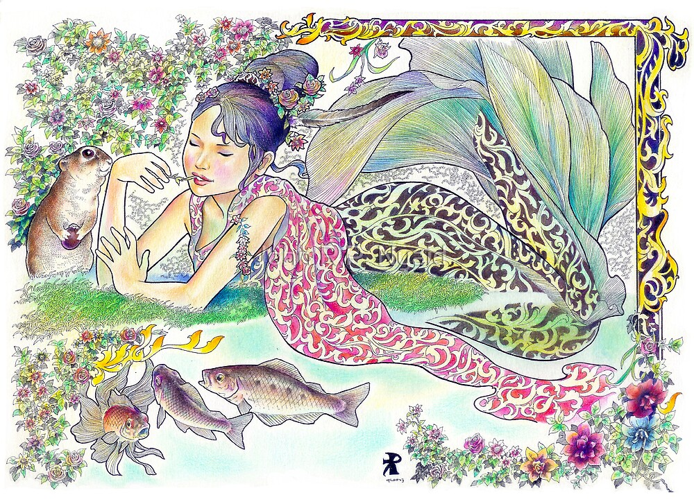 tropical fantasia - mermaid princess by John R.P. Nyaid