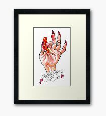 Hot Cheeto Fingers Por Vida  Framed Print