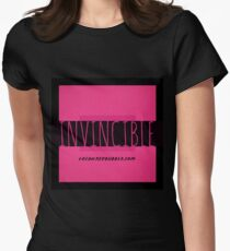 INVINCIBLE   PINK   BLACK Womens Fitted T-Shirt
