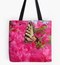 Butterfly in the azaleas   ^ Tote Bag