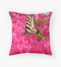 Butterfly in the azaleas   ^ Throw Pillow