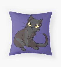 Sketch the Black Cat Throw Pillow