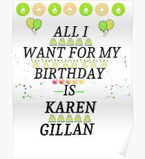 Birthday Gillan Poster