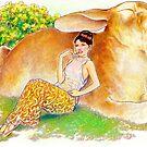 tropical fantasia - drowsy bunny by John R.P. Nyaid