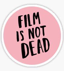 Film is not dead (pink) Sticker