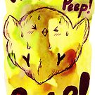 Peep! Peep! Chick Watercolor by SaradaBoru