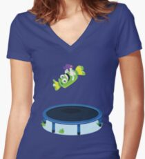 Candyflip Women's Fitted V-Neck T-Shirt