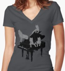 Young Wolf Gang Women's Fitted V-Neck T-Shirt