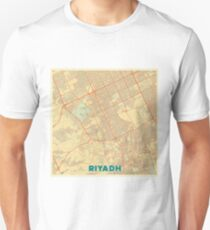 Riyadh Map Retro Unisex T-Shirt