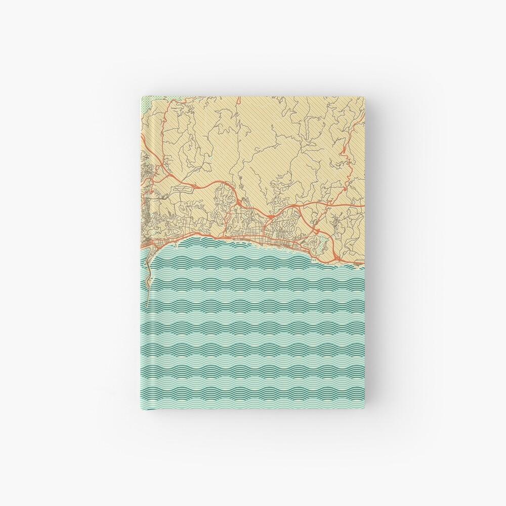 Malaga Map Retro Hardcover Journal