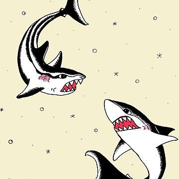 Sharks  by madvillainous