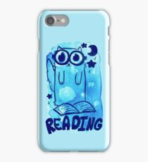 Reading Watercolor Cat iPhone Case/Skin