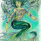 tropical fantasia - dancing mermaid by John R.P. Nyaid