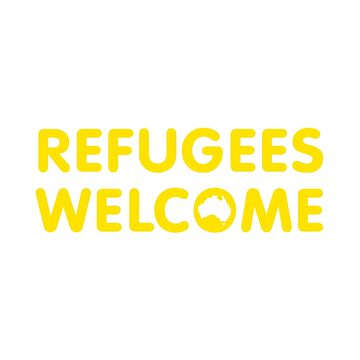 Refugees Welcome Australia (Yellow) by mbianchi