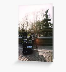 Central Park Accordion Player Greeting Card