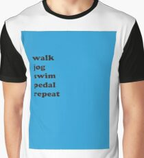 Exercise Motto Graphic T-Shirt