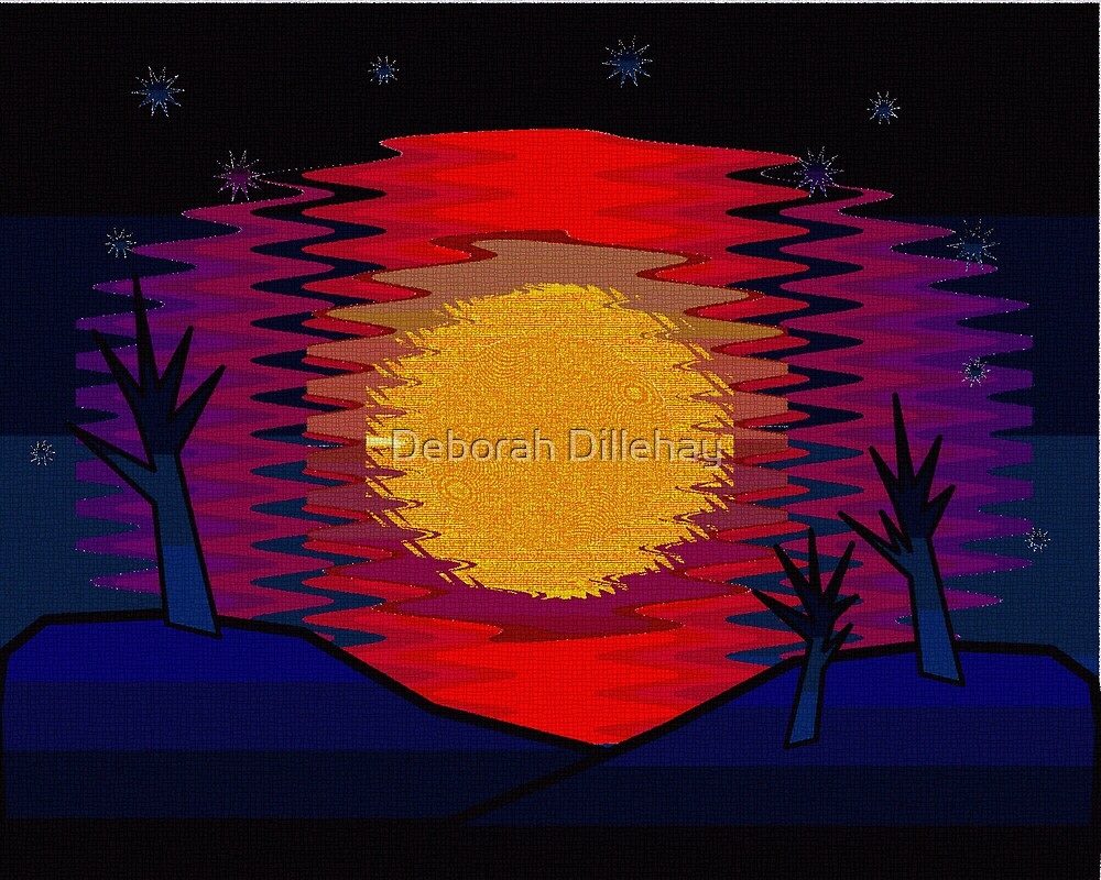 Sunset and Blue Hills by Deborah McCormick