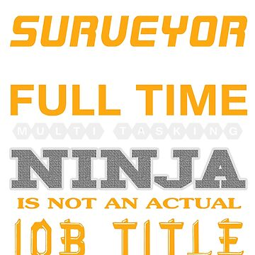 SURVEYOR - JOB TITLE SHIRT AND HOODIE by Emmastone