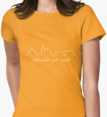 My Heart is in Palestine Womens Fitted T-Shirt
