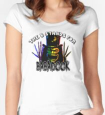 The B stands for... Babadook Women's Fitted Scoop T-Shirt