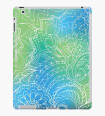 transparent  white zen pattern blue gradient iPad Case/Skin