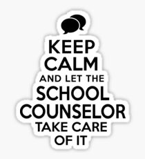 School Counselor Keep Calm Sticker