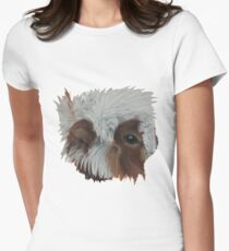 Guinea Pig ball of fluff Womens Fitted T-Shirt