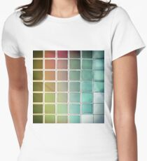 Color Chart Green Womens Fitted T-Shirt