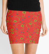 Paisleys and Flowers Mini Skirt
