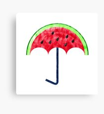 Perfect Watermelon Umbrella Canvas Print