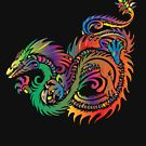 Colorful Tribal Dragon by pjwuebker