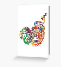 colored dragon Greeting Card