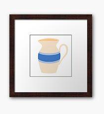 Stoneware Milk Pitcher Framed Print