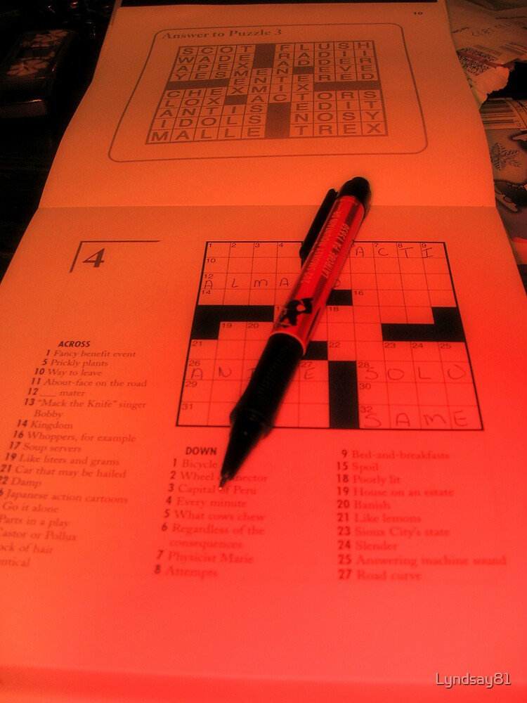 Crossword and the Pen by Lyndsay81