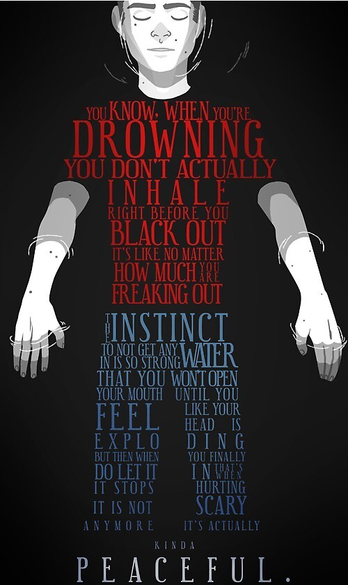 """You know when you're drowning"" Quote by Duralast"