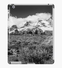 Mt Hood and lupines from Pacific Crest Trail monochrome iPad Case/Skin