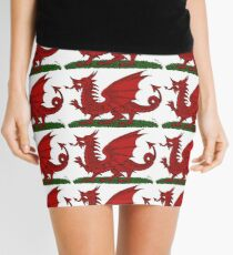 Red Dragon of Wales Mini Skirt