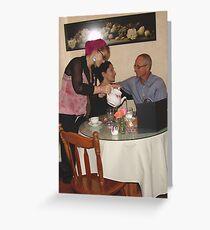 Breast Cancer Awareness Tea - Sweet Divas Bistro & Cottage, Brea, CA, USA Greeting Card
